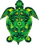 Tortuga un animal, una tortuga de mar, un animal con el dibujo, Fotografía de archivo