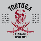 Tortuga Vintage Pirate Font Poster Royalty Free Stock Images