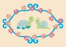 Tortuga y caracol Imagen de archivo