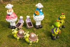 Tortuga y ovejas de la historieta Fotos de archivo
