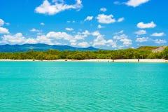 Tortuga zatoki plaża przy Santa Cruz wyspą w Galapagos zdjęcia stock