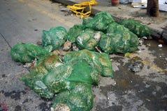 Tortugas en el mercado de Qinping, Guangzhou, China Foto de archivo libre de regalías