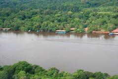 Tortuguero,哥斯达黎加鸟瞰图 免版税库存图片