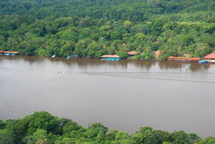 Tortuguero, вид с воздуха Коста-Рика Стоковое Изображение RF