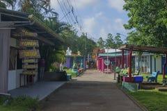 Tortuguero główna ulica, Costa rica zdjęcie stock