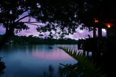 Tortuguero Sunset Royalty Free Stock Photo