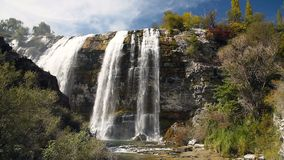 Tortum waterfall in Eastern Anatolia. Turkey stock video footage