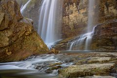 The Tortum waterfall Royalty Free Stock Photo