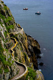 Tortuous path on skellig island Stock Photo