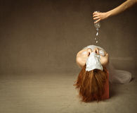 tortura con agua fotografía de archivo