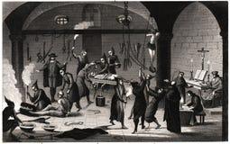 Tortura española de Inquistion Imagenes de archivo