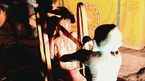Torture - cutting the sinner in the Buddhist stock footage