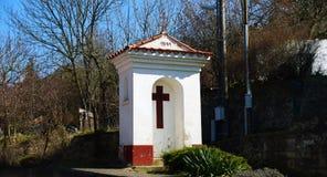 Torture de Dieu dans le village Photographie stock