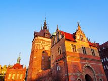 Torture House and Prison Tower in Gdansk, Poland Royalty Free Stock Photos