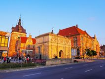 Torture House and Prison Tower in Gdansk, Poland Royalty Free Stock Images