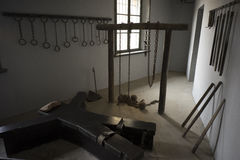 Torture room. In lushun Dalian prison built by Russian and Japanese Royalty Free Stock Image