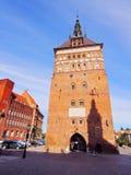 Tortury więzienia i domu wierza w Gdańskim, Polska Obraz Stock