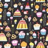 torty deseniują cukierki Zdjęcia Royalty Free