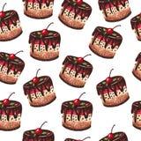 Torty deseniują na białym tle Zdjęcia Stock