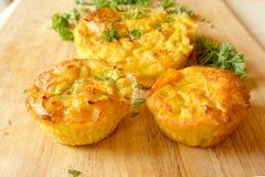 Torty, muffins warzywa Zdjęcie Royalty Free
