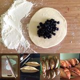 Torty z czarnymi jagodami zdjęcie stock