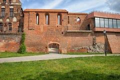Toruńska miasto ściany fortyfikacja Zdjęcia Stock