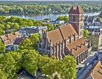 Toruński Poland - stary kościół w hdr technice Fotografia Royalty Free