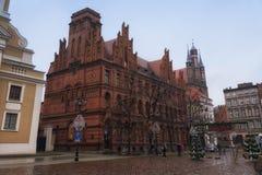 2017 10 20 Toruński Polska, Stary Targowy kwadrat w Toruńskim Toruńscy są starzy miasta w Polska, miejsce narodzin astronom Nicol Zdjęcie Royalty Free