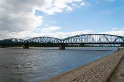 Toruński sławny kratownicowy most, Polska Obraz Stock