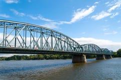 Toruński sławny kratownicowy most, Polska Zdjęcia Royalty Free