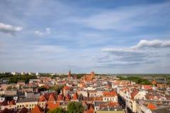 Toruński Stary miasteczko od Above w Polska Fotografia Stock