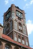 Toruński urzędu miasta zegar Fotografia Royalty Free