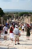Toruists in ephesus- izmir-turkey Royalty Free Stock Photo