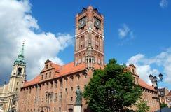 Torum, Polonia: Vecchio municipio immagine stock libera da diritti