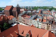 Torum, Polonia: Vista di vecchia città Immagine Stock Libera da Diritti