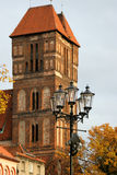 Torun. Gothic church in medieval part of the city (UNESCO World Heritage List Royalty Free Stock Image