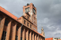 Torun. Poland - Torun, city divided by Vistula river between Pomerania and Kuyavia regions. Old Town Hall Stock Image