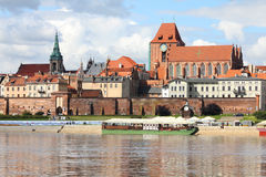 Torun. Poland - Torun, city divided by Vistula river between Pomerania and Kuyavia regions. The medieval old town is a UNESCO World Heritage Site Stock Photos