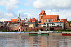 Torun. Poland - Torun, city divided by Vistula river between Pomerania and Kuyavia regions. The medieval old town is a UNESCO World Heritage Site Royalty Free Stock Photography