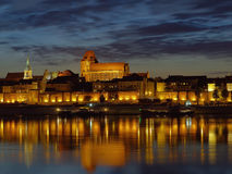 Torun. Night view of Torun, Poland Stock Images