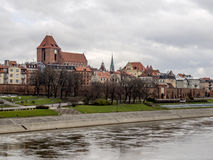Torun - altes Stadtpanorama Stockfotos