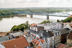 Torun bird's eye view, Stock Images