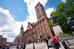 Torun centre, Poland. Poland, city of Torun. The main square with Copernicus monument (Torun being his home town Royalty Free Stock Images