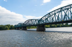 Torun famous truss bridge , Poland Stock Photography