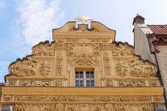 Torun hus under stjärnagaveln Arkivbilder
