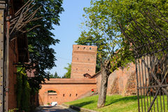 Torun leaning tower stock images