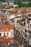Torun main street. Torun, Poland. The main street in old town (Szeroka Street) seen from the tower of the Town Hall Stock Images