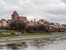 Torun - old city panorama stock photos