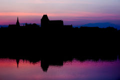 Torun Old City Skyline at Twilight Royalty Free Stock Images