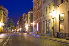 Torun old town at night. Poland Stock Images